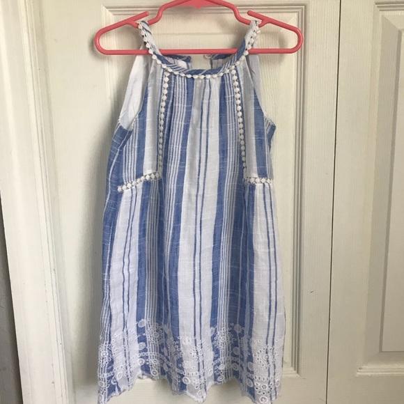 635967a1ba90 GAP Dresses | Girls Baby 4t Blue And White Linen Dress | Poshmark
